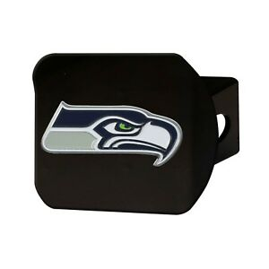 Fanmats NFL Seattle Seahawks 3D Color on Black Metal Hitch Cover Del. 2-4 Days