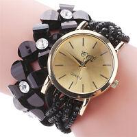 Fashion Women Ladies Stainless Steel Crystal Bracelet Quartz Dress Wrist Watches