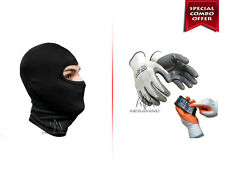 Riders Dual Combo- Balaclava Face Mask with Anti-Cut Resistance Riding Gloves
