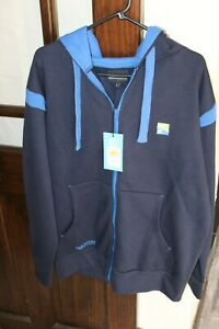 Preston Innovations Zip Front Navy Hoodie - Size Large