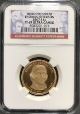 2007 S Thomas Jefferson Presidential Dollar $1 NGC PF 69 Ultra Cameo