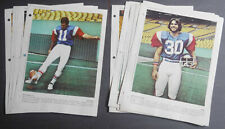 1977-82 Lot of 60 Montreal Alouettes CFL Derniere Heure Football photos