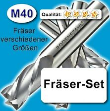 M40 fräserset, d = 4-5-6-8-10mm para acero inoxidable Alu latón madera plástico Z = 3