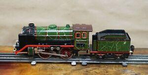 1920's Marklin Tin Toy Train O Gauge 0 Steam Locomotive w Tender R-920 20v AC