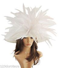 Cappello Bianco Grandi Ascot per Matrimoni, Ascot, DERBY HC1