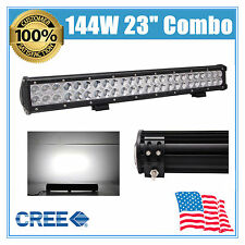 23INCH 144W LED WORK LIGHT BAR COMBO BEAM DRIVING OFFROAD LAMP BUMPER VEHICLE