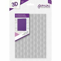 "Gemini by Crafter's Companion ~ 5x7"" 3D Embossing Folder ~ Seamless Weave"