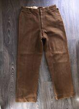 Vtg Pants Gabardine Work Wear 40s 50s Wool Trousers Conmar Zip 30x29 SUPERB!