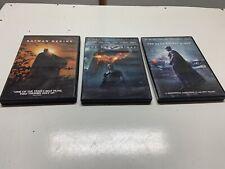 3 DVDs Batman Begins The Dark Knight Widescreen Edit The Dark Night Rises