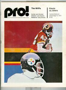 1973 NFL Pro Football Giants vs. Oilers Magazine