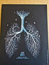 Jack White  Mini Concert Poster Reprint 2014 Charlotte NC 14x10 Unsigned