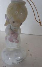 Vintage Precious Moments Musical Christmas Ornament Porelain Angel