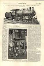 1896 EXPRESS LOCOMOTIVA Boston Albany Railroad sterilizzati Burro di fare delle piante