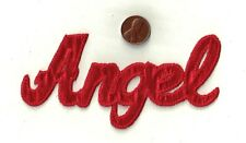"""Iron-On Applique  5"""" Word  """"ANGEL""""  Sewing Fabric Embellishment Craft Supply"""