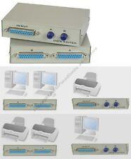 Lot4 2way DB25 pin/wire AB Manual Data Switch Box,Parallel Printer LPT $SHd