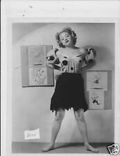Judy Bourne busty leggy barefoot VINTAGE Photo