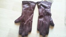 Jaeger Gloves real leather size m brown