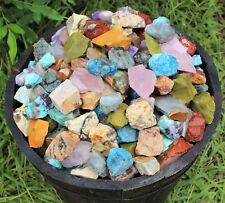 1/2 lb Bulk Lot Africa Mix Natural Rough Tumbler Rocks Stones 8 oz Madagascar