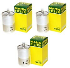 NEW Set of 3 Fuel Filters For Mercedes W201 W123 W124 400E Mann WK845