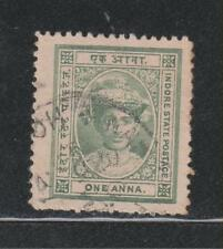 India Indore State 1920, 1An. SG11b (Perf. 12½) Used Stamp RARE.