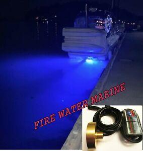 100W 8000 LUMEN BLUE GARBOARD LED BOAT DRAIN PLUG LIGHT MARINE 3/4 1/2 NPT