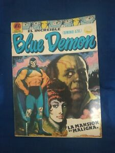 BLUE DEMON  num 108 COMIC IN SPANISH VINTAGE ORIGINAL  LIKE SANTO