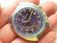 Rare soviet VOSTOK Military watch Nice BLUE Dial ZAKAZ MO USSR *RED STAR*