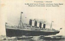 CP TRANSATLANTIQUE FRANCE LE PLUS GRAND COURRIER FRANCAIS