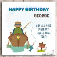 Funny Fishing Birthday Card for Dad Brother Grandad Son Grandpa Fisherman
