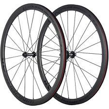 WINDBREAK Carbon Wheels 50mm Clincher Carbon Road Bike Wheelset R13 Hub 3K Matte