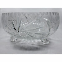 Large Round Footed Crystal Bowl