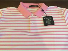 RLX Ralph Lauren Golf men's pink/white striped polo shirt,size XL,MSRP$89.50,NWT