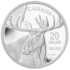 2012 Canada $20 Fine Silver Coin - Bull Moose