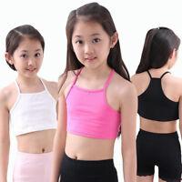 Girls Bra camisole girl cotton vest child tank girls underwear candy color tops