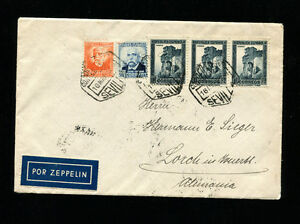 Zeppelin Sieger 204 1933 1st South America Flight  Spain Post Return Flight
