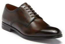 BALLY Latour Leather Derby Men's Lace Up Oxford Shoes MID BROWN Size 9 D
