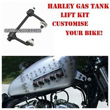 Black motorcycle gas tank lift kit for Harley sportster XL 883 1200 48 raiser 2""