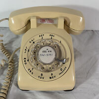 Vintage Western Electric Bell System Rotary Phone Telephone 500 DM Beige 1979