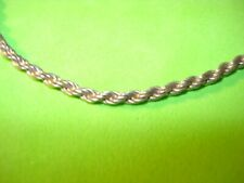 Silver Italy Bracelet Stamped Vintage Rope Chain 925