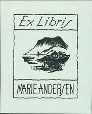 'Marie Andersen'  Bookplate      (JC.78)