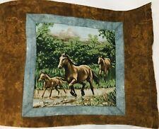 Horse Pillowcase Pillow Case Brown Green Farm Stable Stallion