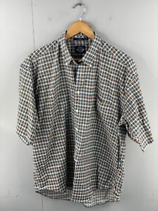 Dockers Levi's Mens Vintage Short Sleeve Casual Hawaiian Shirt Size L Green