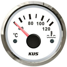 KUS Water Temperature Gauge Boat Marine Truck 40-120 Degrees Water Temperature
