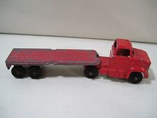VINTAGE TOOTSIETOY DIE CAST FORD SEMI TRUCK & FLATBED TRAILER MADE IN USA