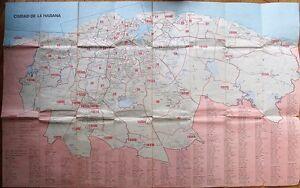 Havana / Habana, Cuba - Large Postal / Post Office Map of Zip/Post Codes