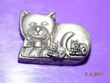 NEW CAT TORINO PEWTER box/necklace/pin/earrings gift box set