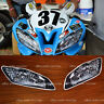 simulated headlight decals sticker for a yamaha R6 2008 - 2013 2014 2015 2016