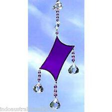 1 X Purple Glass Diamond Shaped Light Catcher in  Box (SC004)