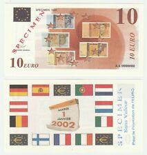 France 10 Euro 1998 UNC Specimen Test Note Banknote