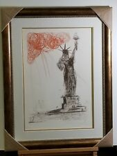 Salvador DALI, Original Etching, Statue of Liberty, Signed, Framed, Iconic!
